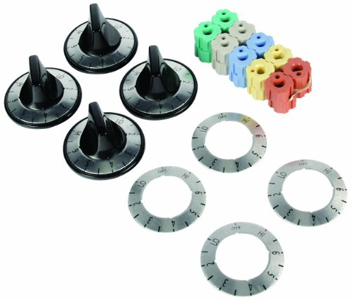 Camco 00883 Electric Range Knobs Top Burner (Black) (Modern Maid Oven Parts)