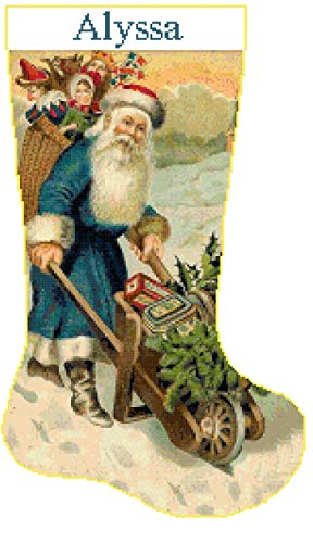 Pattern Only Cross Stitch Christmas Stocking Santa 5 with ()