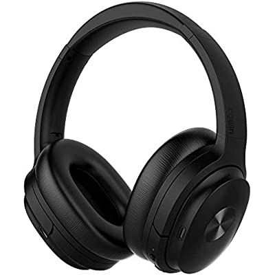 cowin SE7 Active Noise Cancelling Headphones Bluetooth Headphones Wireless Headphones Over Ear with Mic Aptx  Comfortable Protein Earpads 50H Playtime  Foldable Headphones for Travel Work  Black