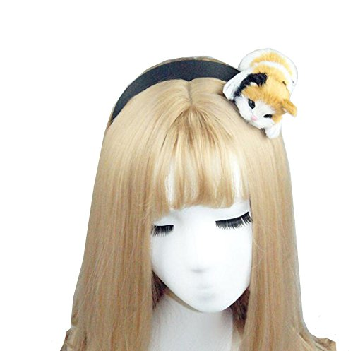 Cute Sexy Womens Attractive Vivid Cat Ear HeadBand Hair Band for Halloween]()