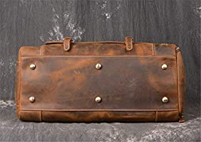 1147514dc3e8 Crazy Horse Genuine Leather Travel Bag Men Vintage Travel Duffel Big Cow  Leather Carry On Luggage. Loading Images.