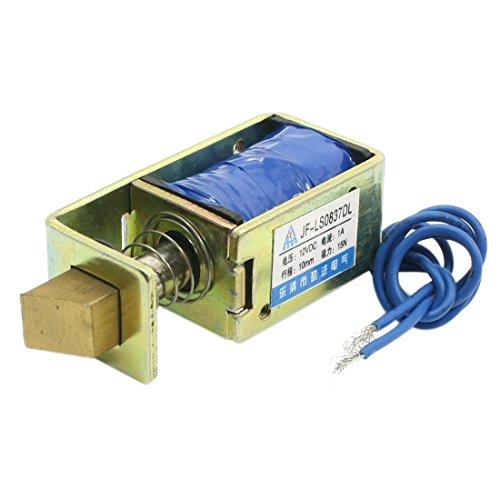 sourcingmap® JF-LS0837DL DC12V 1A 15N Force 10mm Streich Zieher Magnetventil für Türschloss