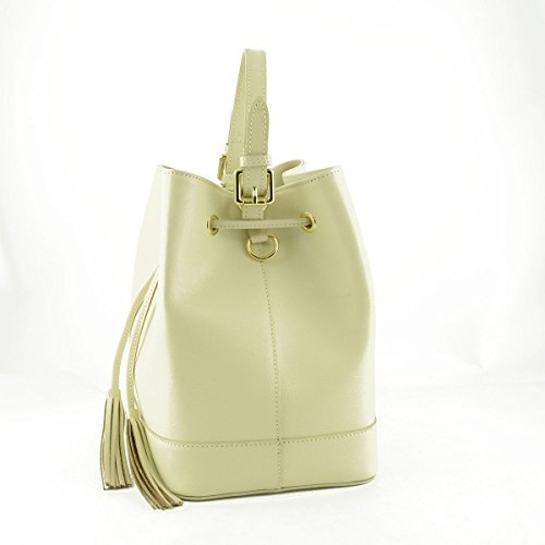 Pelle Borsa Colore In Donna A Made Pelletteria Italy Beige Toscana Mano fP7qIP