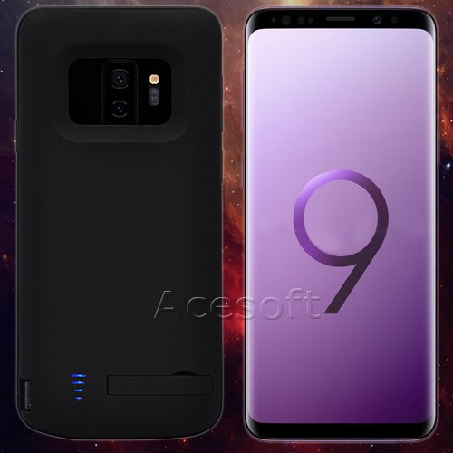 [Samsung Galaxy S9 Battery Case] 5000mAh Rechargeable Extended Battery Backup Charger Case External Portable Power Bank Protective Cover for Samsung Galaxy S9 SM-G960U Android phone by SodaPop