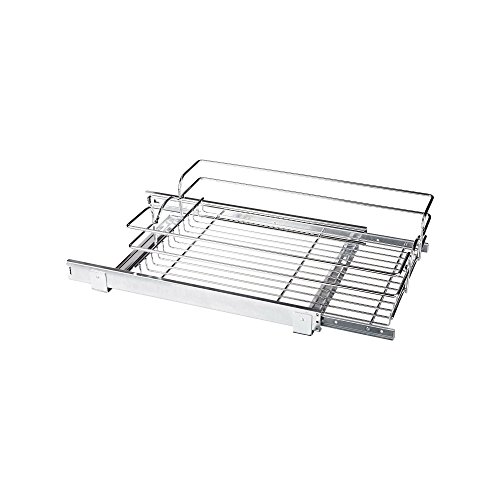 090713048475 - Rev-A-Shelf - 5WB1-1522-CR - 15 in. W x 22 in. D Base Cabinet Pull-Out Chrome Wire Basket carousel main 0