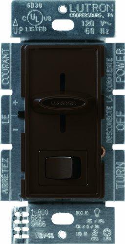 Lutron SCL-153P-BR Skylark CL 150-watt CFL/LED/Incandescent Dimmer, Brown