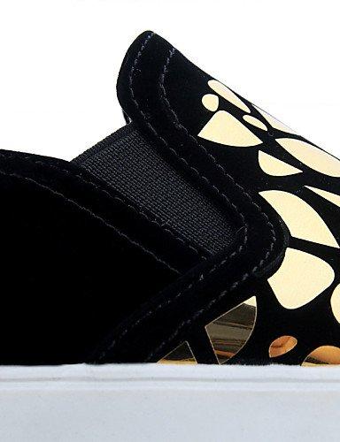 Uk7 Golden us9 Blanco Cn44 Oro Black Eu43 Cn41 Plataforma Eu40 Casual Creepers Exterior us11 Zapatos Mujer Mocasines Semicuero Gyht Vestido Negro De Zq Uk9 qwxR6BS6