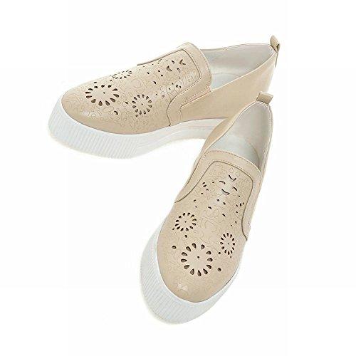 Latasa Mode Féminine Slip Sur Mocassins Chaussures, Chaussures De Plate-forme Abricot