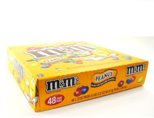 M & M Peanut Single (48 Pack) [Misc.] by M&M's