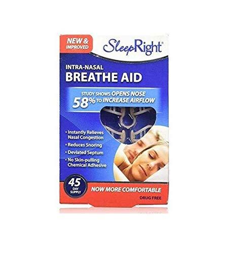 SleepRight Intra-Nasal Breathe Aids Breathing Aids for Sleep Nasal Dilator 45 Day - 2 Pack
