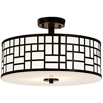Amazon.com: Quoizel gf1617an, Griffin Flush Mount ...