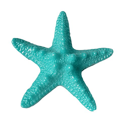 (hwangli Dollhouse Resin Starfish Ornament Beach Ocean Sea Star Home Wall Party Decoration (5Pcs) Lake Blue)