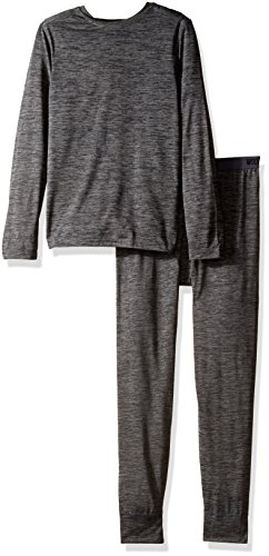 Wolverine Big Boys' Performance Baselayer Set, Ebony Flame Heather, 14/16 (Boxer Thermal Underwear compare prices)