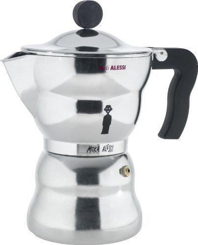 Alessi Alessandro Mendini Moka Espresso Coffee Maker 6 Cup by Alessi