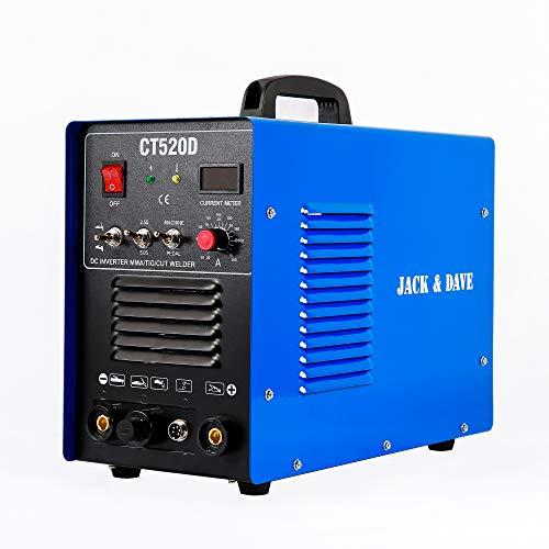 Jack&Dave CT520D 50 AMP Air Plasma Cutter, 200 AMP Tig and Stick/MMA/ARC Welder 3 in 1 Combo Welding Machine, ½ Inch Clean Cut