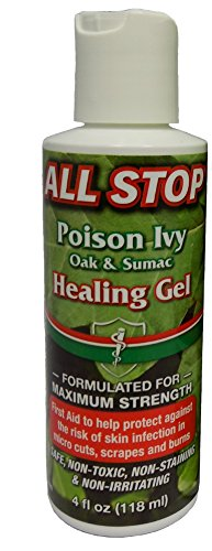 Healing Gel for Poison Ivy, Burns, Scrapes, Wounds, Skin Anticeptic - 4 oz by All Stop