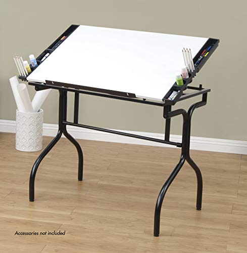 Studio Designs Folding Craft Station in Black with White 13221