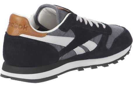 Reebok - CL Leather CH - M45452 - Color: Gris-Marrón-Negro - Size: 38.5