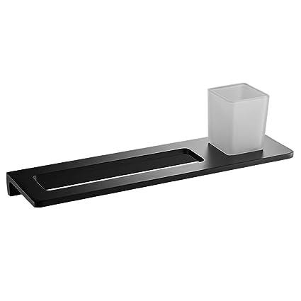 BHJqsy Estante de Toalla Negro Baño de Aluminio de Espacio Retro Juego de Columpio de baño