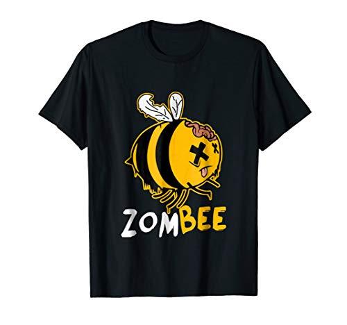 Zombee Zom Bee Funny Halloween Costume T-Shirt]()