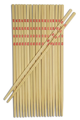 Bamboo Burnished Chopstick Joyce Chen (Joyce Chen 30-0043, Bamboo Table Chopsticks, 9-inch, 10-Pairs)