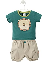 Baby-Boys Newborn King Of The Jungle T-Shirt and Cargo Shorts Set
