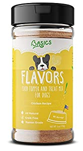 Flavors Food Topper and Gravy for Dogs - Chicken Recipe with Bone Broth - Natural, Human Grade, Grain Free - Perfect Seasoning and Hydrating Treat Mix for Picky Dog or Puppy (Chicken, 6 oz)