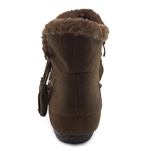 Adults Size Brown Suede Ankle Insulation Women's Kali Fur Zipper Faux Booties Faxqw4pOn