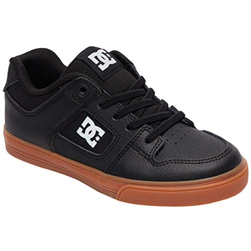 - DC Boys' Pure Elastic Sneaker Black/White/Gum 11 M M US Little Kid
