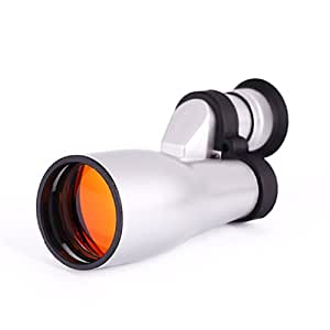HDE Compact Pocket Sized 15x32 Monocular Corner Telescope with Carrying Case