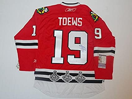 49c069e0b39 Image Unavailable. Image not available for. Color: Jonathan Toews  Autographed Jersey ...