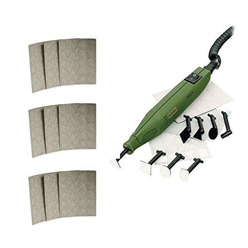 Proxxon 28594 PS 13 12V Pen Sander, (3) Asst. 180, 240, 400-Grit Adhesive Pads -  BUNDLE