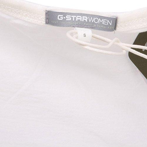 Bianco star G Avorio shirt Maglia T Donna Woman Raw B8050 f4nnUSW6