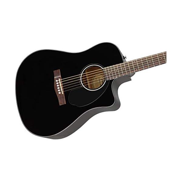 Fender CD-60SCE Electro Acoustic Guitar, Black, Walnut