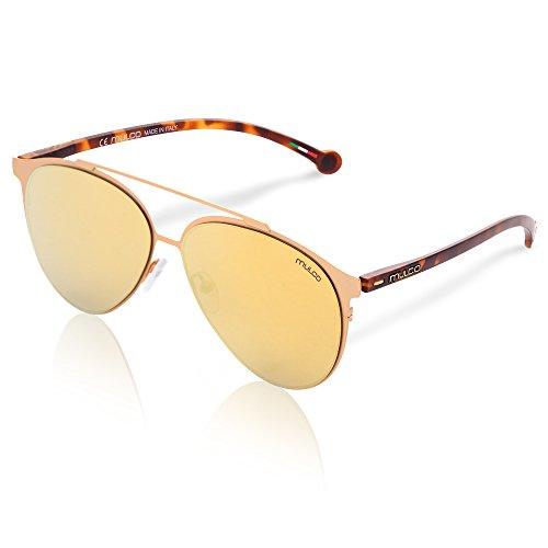 Mulco Leaf PT C132 Rose Gold and Carey Frame / Gold Lens 50 mm - Sunglasses Mulco