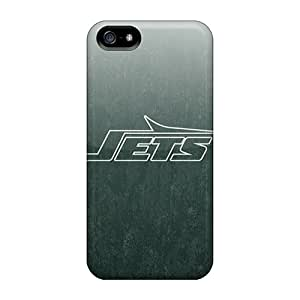 Slim Fit Protector Shock Absorbent Bumper New York Jets Cases For Iphone 5/5s