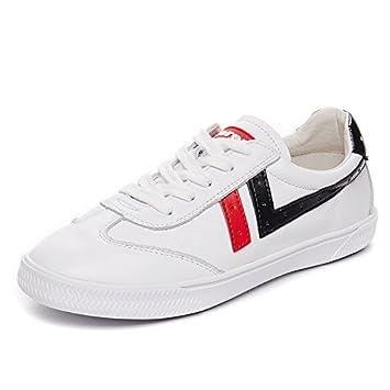 NGRDX&G Zapatos Blancos Zapatos Deportivos Femeninos Correa De Cabeza Redonda Femenina Zapatos Casuales Zapatos De Ayuda