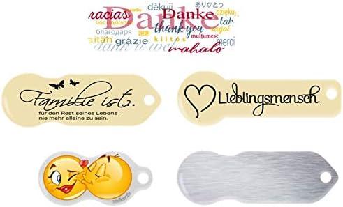 Einkaufswagenchip 1 St/ück Crazy Eggs Edelstahl mit Schl/üsselschutz