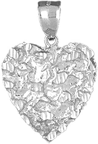 31 mm Jewels Obsession 14K White Gold Basketball Player Pendant