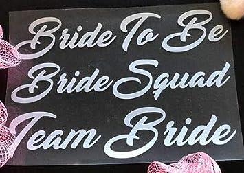 Murrielle Bride Squad BRIDE SQUAD Team Bride Iron On T-shirts Transfer Vinyl Wedding Party Bride Hen Do Party Vinyl Gold Bridesmaid