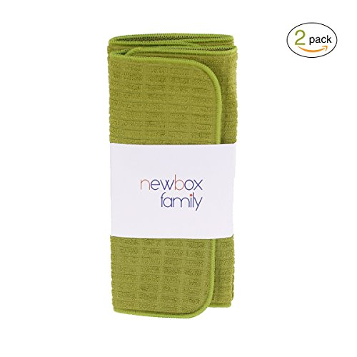 15 X 20 Inches Fast Drying Super Absorbent For Home and Kitchen(Olive Green-Pack of 2) (Hamilton Speaker Stand)