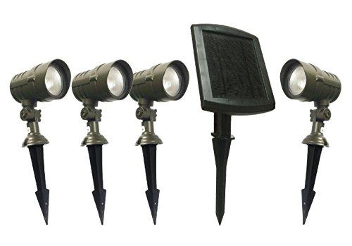4pk cast aluminum solar spot light with remote panel