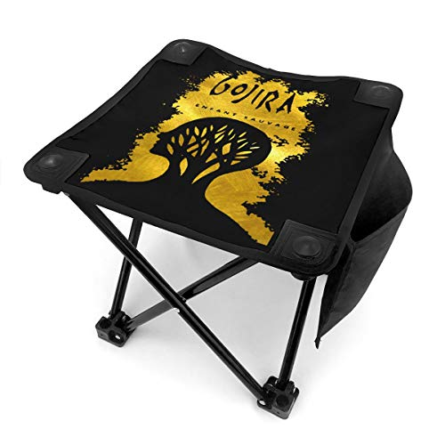 Fallake1 Small Folding Camping Stool, Gojira L'enfant Sauvage Lightweight Chairs Portable Seat for Adults Fishing Hiking Gardening and Beach with Carry Bag