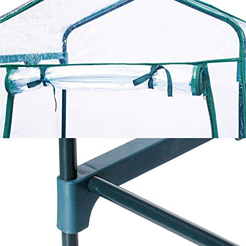 Homes Garden 5-Tier Shelves Mini Indoor/Outdoor Greenhouse Warm Tight Commercial PVC Clear Greenhouse Plant Flower Grow Tent Zipper Roll Up Front 27 in. L x 19 in. W x 76 in. H #G-G304A00 by Homes Garden (Image #6)