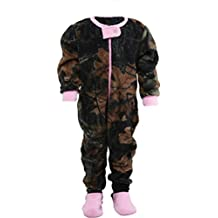 Infant Camo One Piece Footed Fleece Crawler, 3-6 Months, Pink