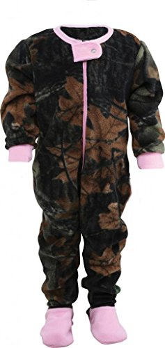 Infant Camo One Piece Footed Fleece Crawler, 12-18 Months, ()