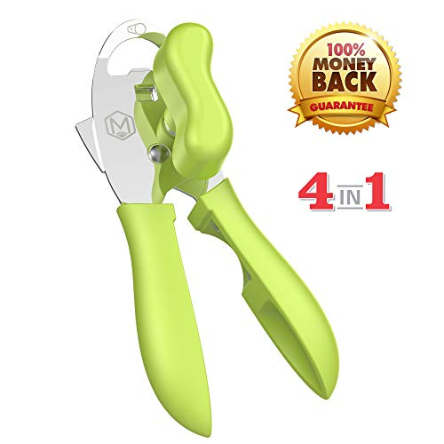 Can Opener Manual,Food-Safe Stainless Steel and Durable Can Opener Smooth Edge,Heavy Duty Can Opener With Ergonomically Designed Handle,Best Can Openers.