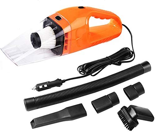 NIUTA Orange DC 12V Corded Auto Vacuum Cleaner for car Portable High Power for Pet Hair Wet and Dry Use