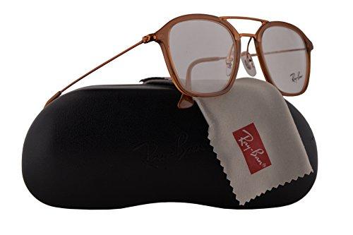 5eda3035458 Ray-Ban RX7098 Eyeglasses 50-21-145 Brown w Demo Clear Lens 5634 ...