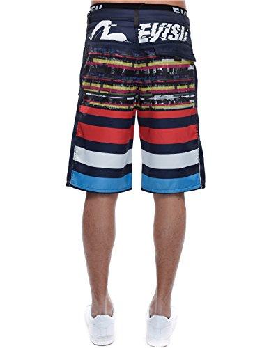 Multi Stripe Allover Print Short - Men Evisu Short